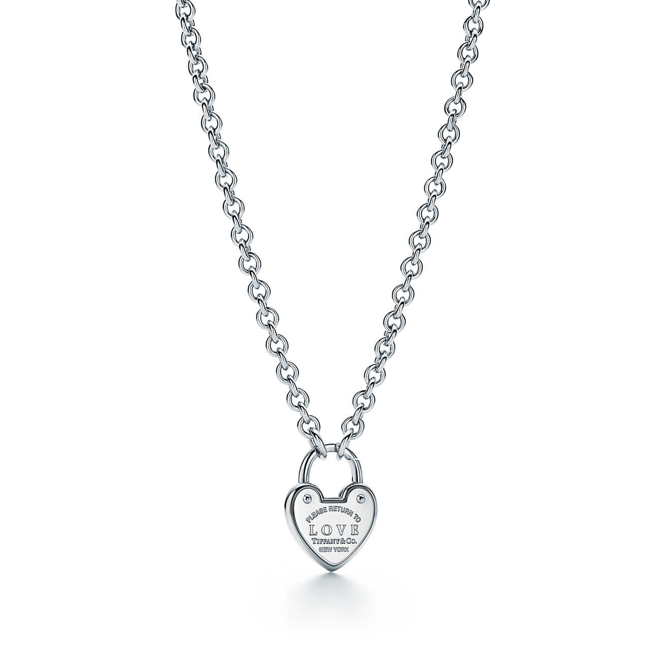 Return to Tiffany® Love lock necklace in sterling silver. | Tiffany & Co.