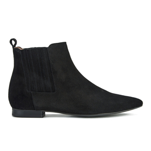 H Shoes by Hudson Women's Reine Pointed Suede Ankle Boots - Black - FREE UK Delivery