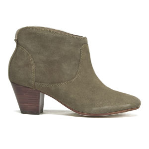 H Shoes by Hudson Women's Kiver Suede Heeled Ankle Boots - Beige - FREE UK Delivery
