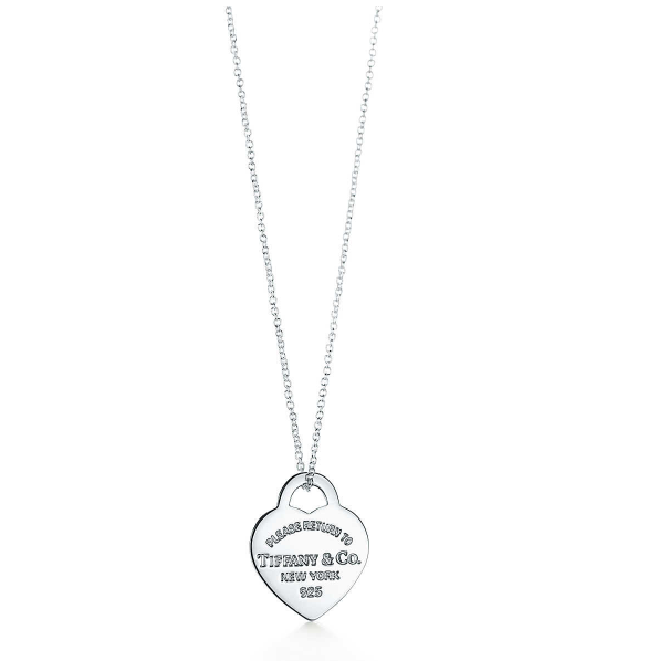 Return to Tiffany® heart tag pendant in sterling silver, small.   Tiffany & Co.