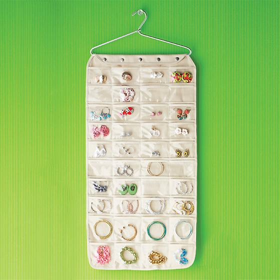 Canvas 80-Pocket Hanging Jewelry Organizer | The Container Store