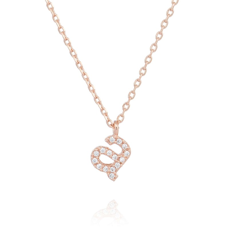 Rose Gold Initial 'a' necklace