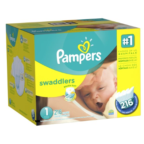 Pampers Swaddlers 1号尿布216片