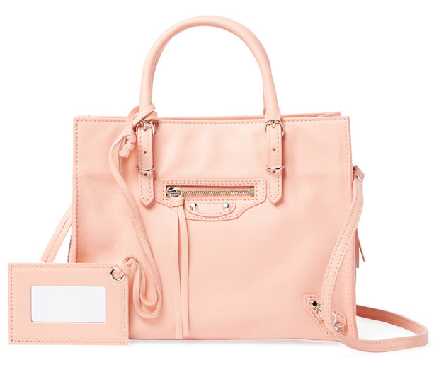 Papier A6 Mini Leather Zip Around Crossbody by Balenciaga