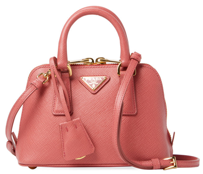 Mini Saffiano Leather Dome Satchel by Prada
