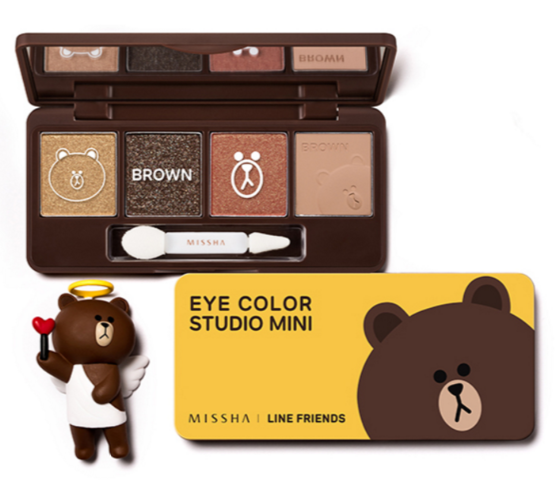Sasa.com: Missha, Missha x Line Friends Eye Color Studio Mini (7.2 g)