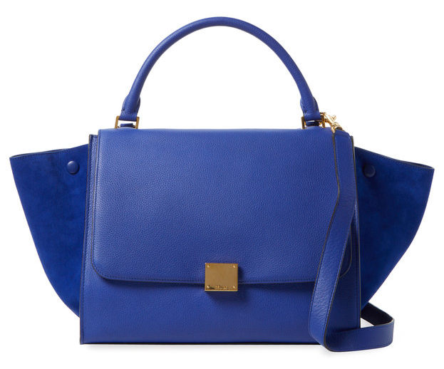 Trapeze Small Leather Tote by Céline