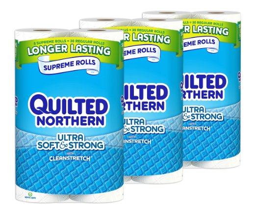 Quilted Northern Ultra Soft & Strong, 24 Supreme (90+ Regular) Rolls TOILET PAPER: Health & Personal Care