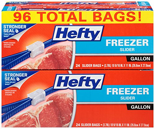 Hefty Slider Freezer Bags, Gallon, 96 Count: Health & Personal Care