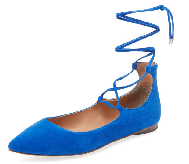 Viata Lace-Up Ballet Flat by Sigerson Morrison