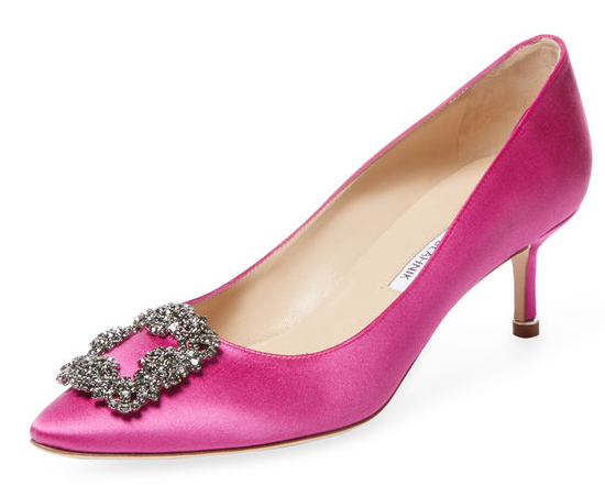 Hangisi 50 Satin Pump by Manolo Blahnik