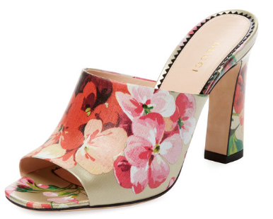 Blooms Print Slide-On Sandal by Gucci Clothing & Accessories