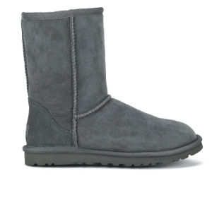 UGG Women's Classic Short Sheepskin Boots - Grey - FREE UK Delivery