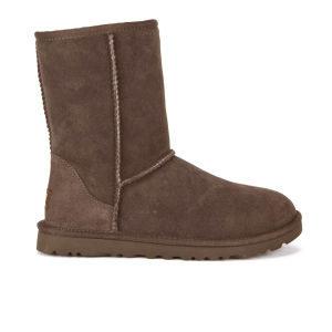 UGG Women's Classic Short Sheepskin Boots - Chocolate - FREE UK Delivery