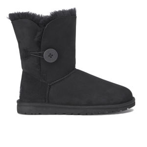 UGG Women's Bailey Button Sheepskin Boots - Black - FREE UK Delivery
