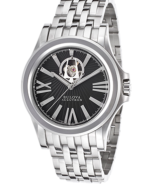 Accutron by Bulova Men's Kirkwood Automatic Stainless Steel Black Dial SSAccutron by Bulova 63A103 Watch