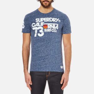 Superdry Men's Sun and Surf Barrel T-Shirt - Eclipse Navy Heather Clothing | TheHut.com