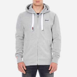 Superdry Men's Orange Label Zip Hoody - Grey Marl Mens Clothing | TheHut.com