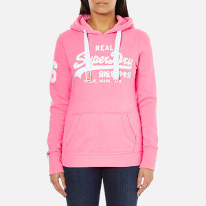 Superdry Women's Vintage Logo Duo Entry Hoody - Snowy Ultra Pink Womens Clothing | TheHut.com