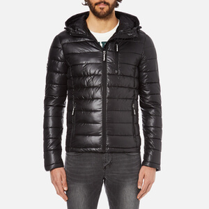 Superdry Men's Fuji Slick Padded Jacket - Black Clothing | TheHut.com
