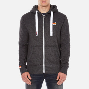 Superdry Men's Orange Label Zip Hoody - Lowlight Black Grit Mens Clothing | TheHut.com