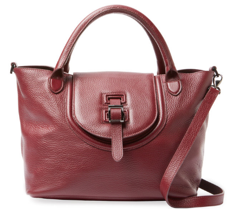 Halo Medium Leather Satchel by Meli Melo
