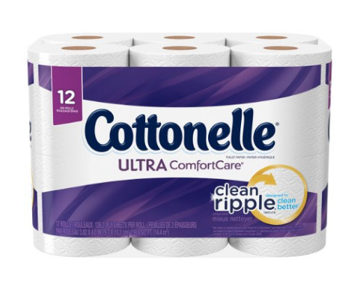 Cottonelle Ultra ComfortCare Big Roll Toilet Paper, Bath Tissue, 12 Count: Health & Personal Care