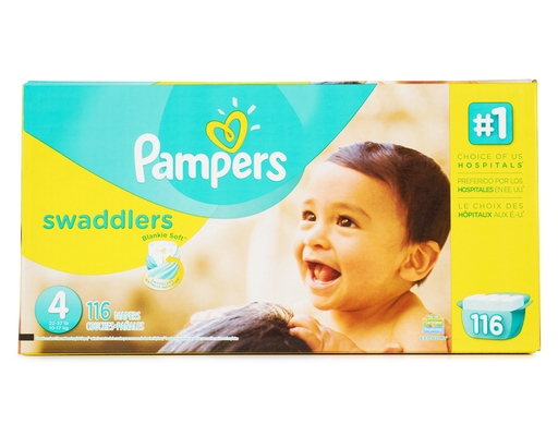 Pampers Swaddlers 116 Diapers - Size 4