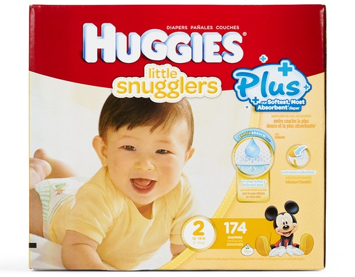 Huggies Little Snugglers Plus+ 174 Diapers - Size 2