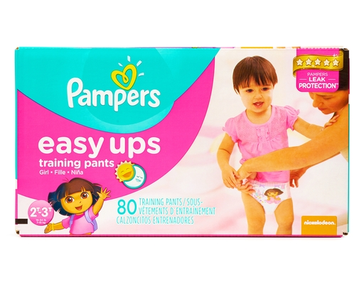 Pampers Easy Up Training Pants 80 Count - Girls 2T-3T