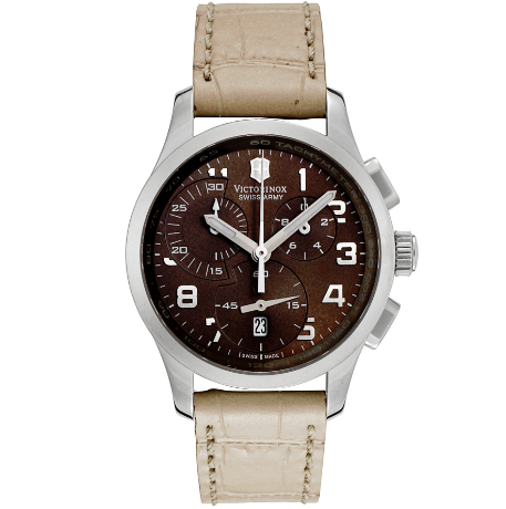 Victorinox Swiss Army Women's Alliance Chronograph Brown Dial Beige Leather | World of Watches
