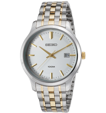 Seiko Men's Neo Classic Two-Tone Stainless Steel Silver-Tone Dial | World of Watches