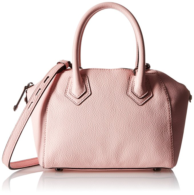 Rebecca Minkoff Micro Perry Satchel Cross Body, Pale Blush, One Size: Clothing