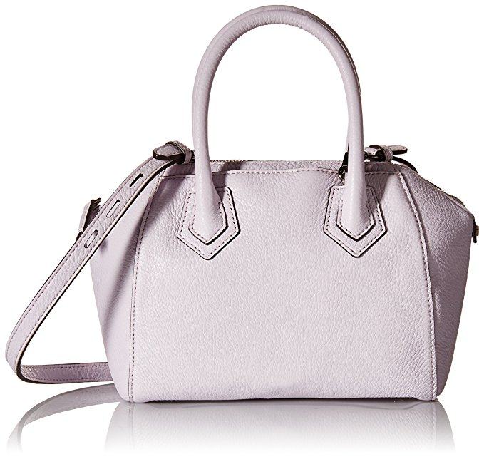 Rebecca Minkoff Micro Perry Satchel Cross Body, Pale Lilac, One Size: Clothing