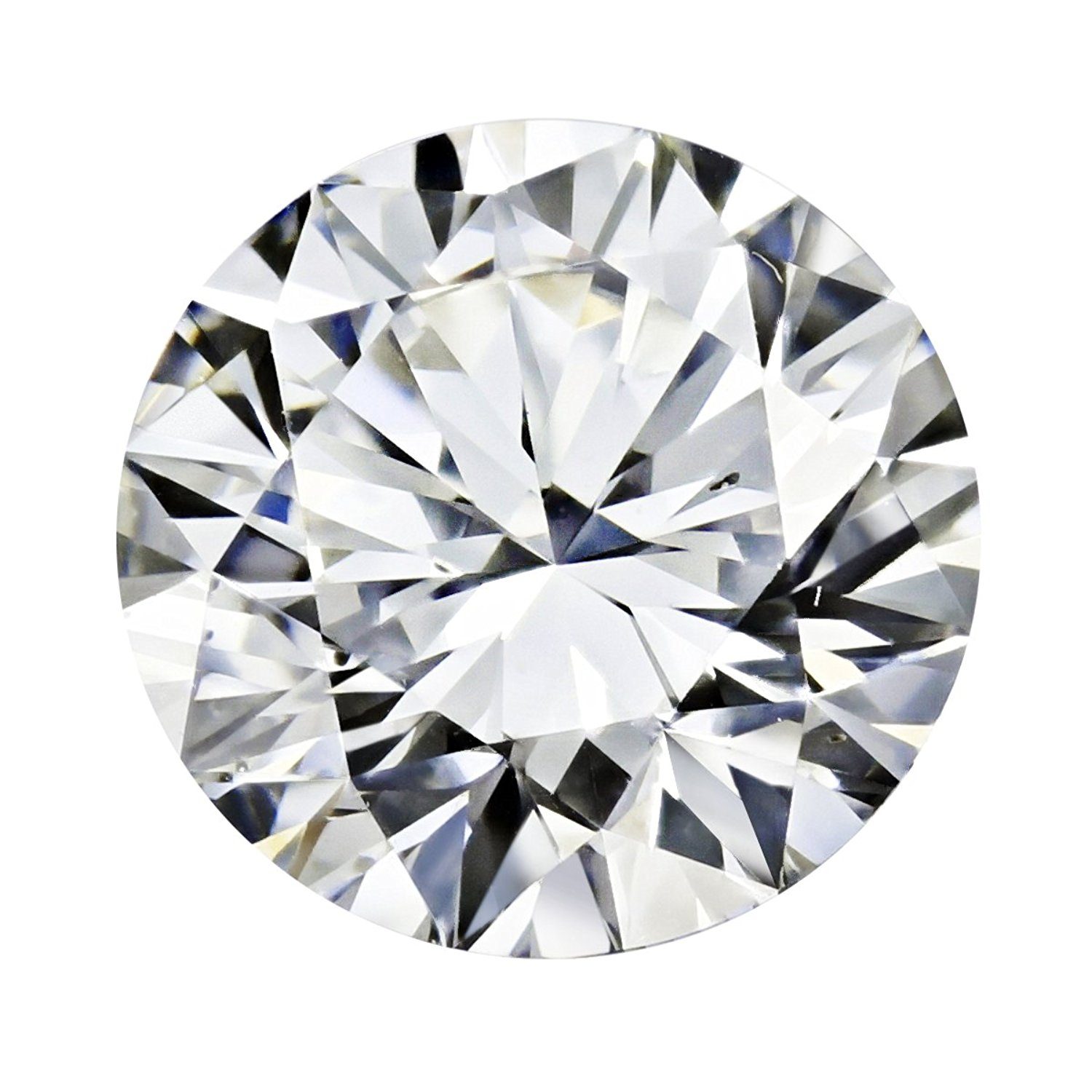 GIA Certified Round Natural Loose Diamond ( Carat: 0.5, Color: I, Clarity: SI2 ): Jewelry