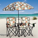$21Portable Beach Chair and Umbrella Set