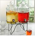 Brylane Home Double Drink Dispenser with Stand