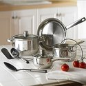 10-Piece Stainless Cookware Set