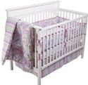 Sumersault 6-Piece Paige Baby Girl Crib Set