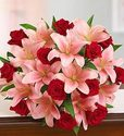 Free shipping + no service chargeon Valentine arrangments @ 1-800-Flowers