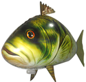 Bass, Shark, or Clownfish Remote Control Flying Fish