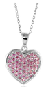 Pink Sapphire Heart Pendant Necklace