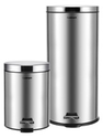 $35Cuisinart 30L and 5L Stainless Steel Step Trash Can Bundle