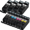 $10Canon-Compatible Inkjet Cartridge 12-Pack