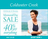 40% OffEverything at Coldwatercreek.com