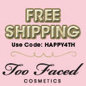 Free Shipping@ Too Faced