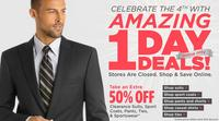 Extra 50%  OffMen's Wearhouse Clearance