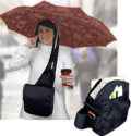 Hands Free Umbrella Messenger Bag 2-Pack