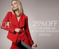 Extra 25% OFFentire order with accessory purchase @ Anne Klein