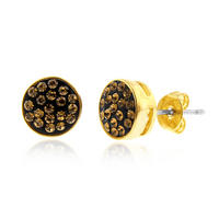 $13Vicenza Collection: Smoky Topaz Crystal Stud Earrings